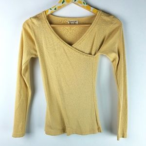 Michael Stars Wrap Knit Shirt Sz S